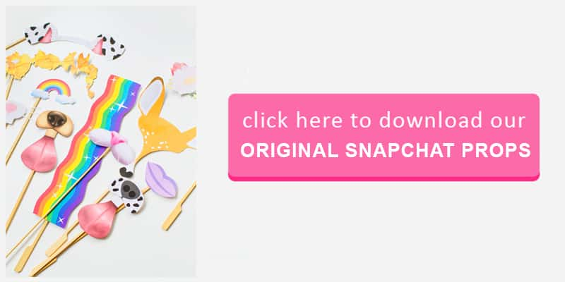 Original Snapchat Props Button
