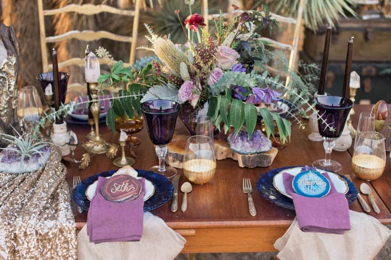 RUSTIC BOHO CRYSTAL WEDDING IDEAS WITH AMETHYST QUARTZ (11)