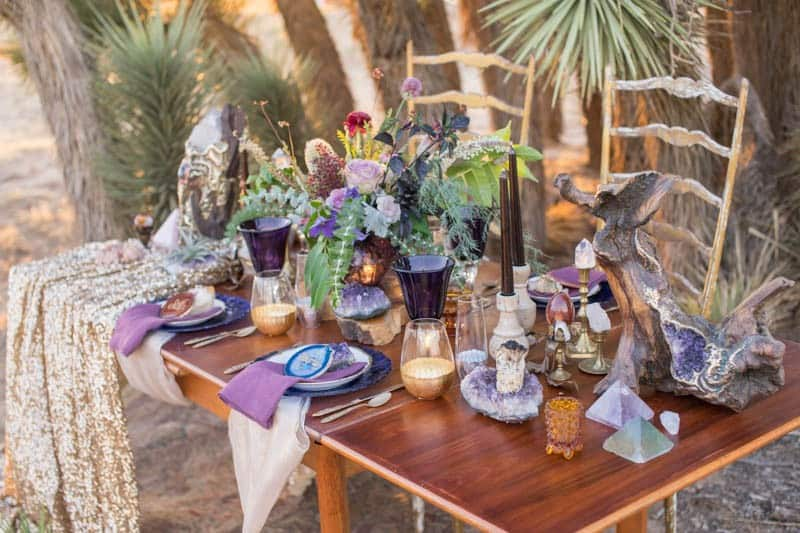 RUSTIC BOHO CRYSTAL WEDDING IDEAS WITH AMETHYST QUARTZ (14)