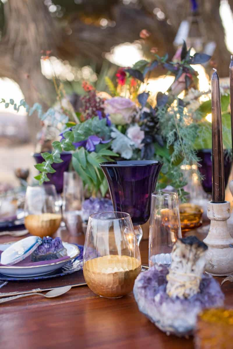 RUSTIC BOHO CRYSTAL WEDDING IDEAS WITH AMETHYST QUARTZ (15)