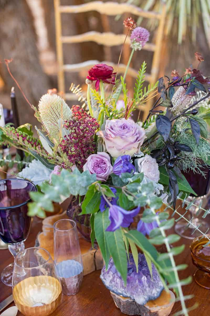 RUSTIC BOHO CRYSTAL WEDDING IDEAS WITH AMETHYST QUARTZ (16)