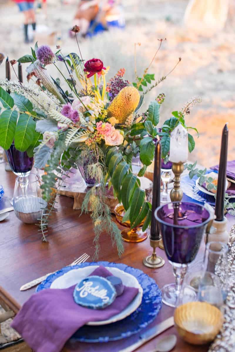 RUSTIC BOHO CRYSTAL WEDDING IDEAS WITH AMETHYST QUARTZ (17)