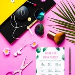 FREE PRINTABLE 'WHAT'S IN YOUR PURSE?' TROPICAL BRIDAL SHOWER GAME