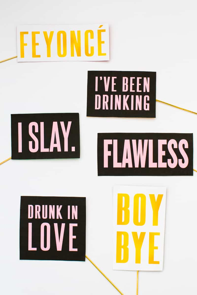 Beyoncé Beyonce Photo Booth Props Bachelorette Party Hen Party Bridal Shower Decor Decorations Accessories Feyonce Queen Bey-4
