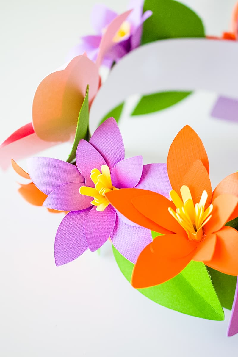 DIY Paper Flower Crown Make Your Own Colourful Fun Headpiece Papercraft-14