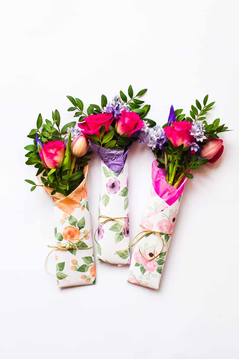 3 MOTHERS DAY GIFT FREE PRINTABLE FLOWER WRAPS | Bespoke-Bride ...