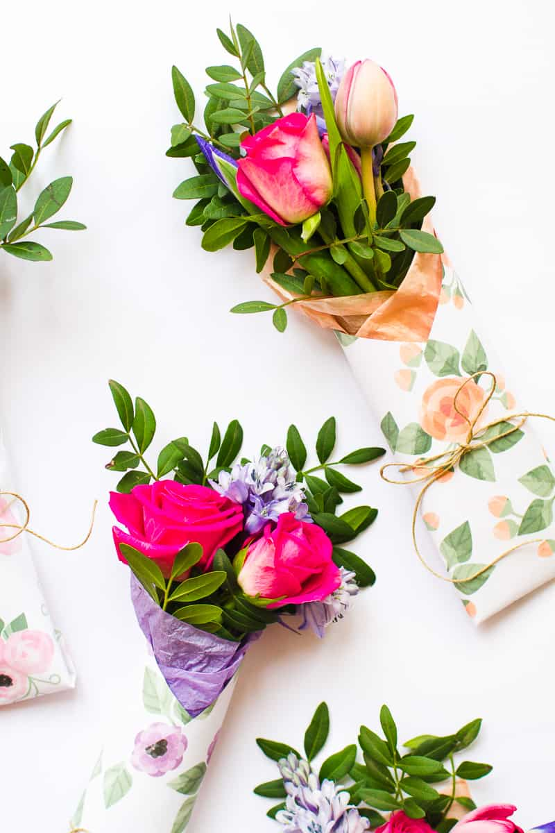 Mothers Day Flower Gift Wrap Free Printable Download Floral Flower_-9