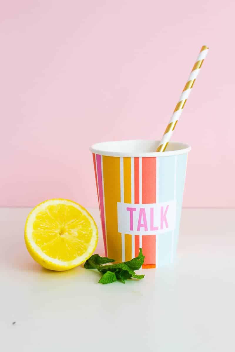 Printable Cup Wraps Rainbow Colourful Fun Party Bachelorette Hen Bridal Shower Birthday Slogan DIY-20