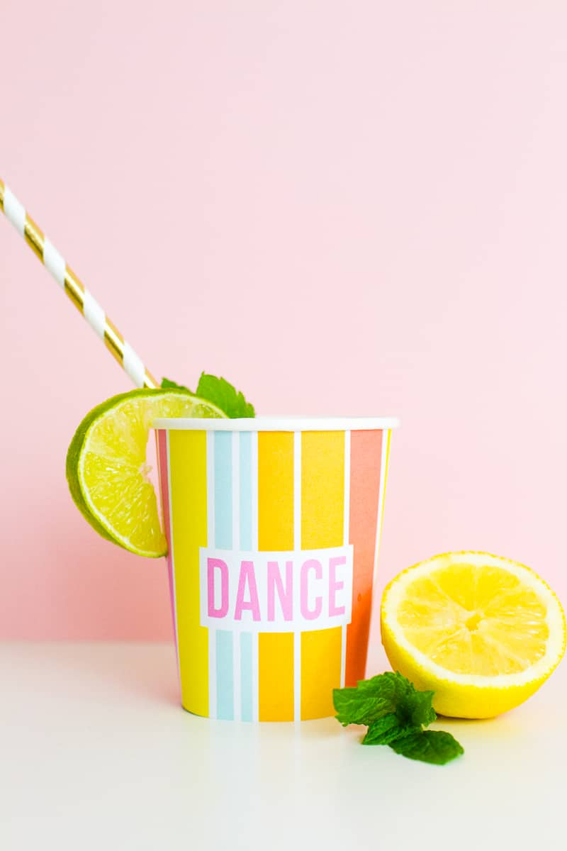 Printable Cup Wraps Rainbow Colourful Fun Party Bachelorette Hen Bridal Shower Birthday Slogan DIY-6