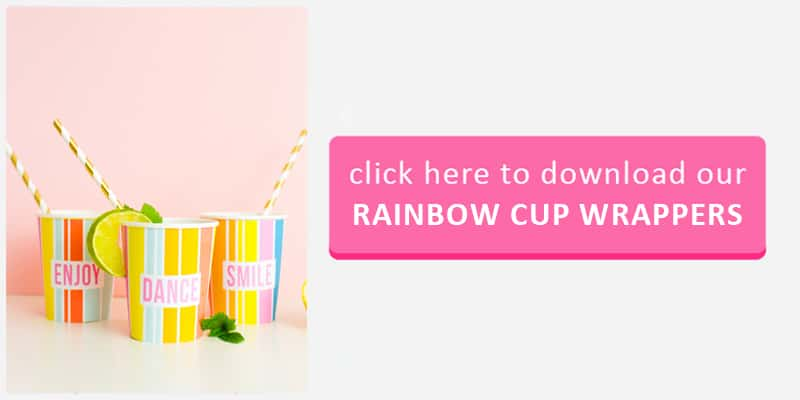 Rainbow Cup Wrappers Button