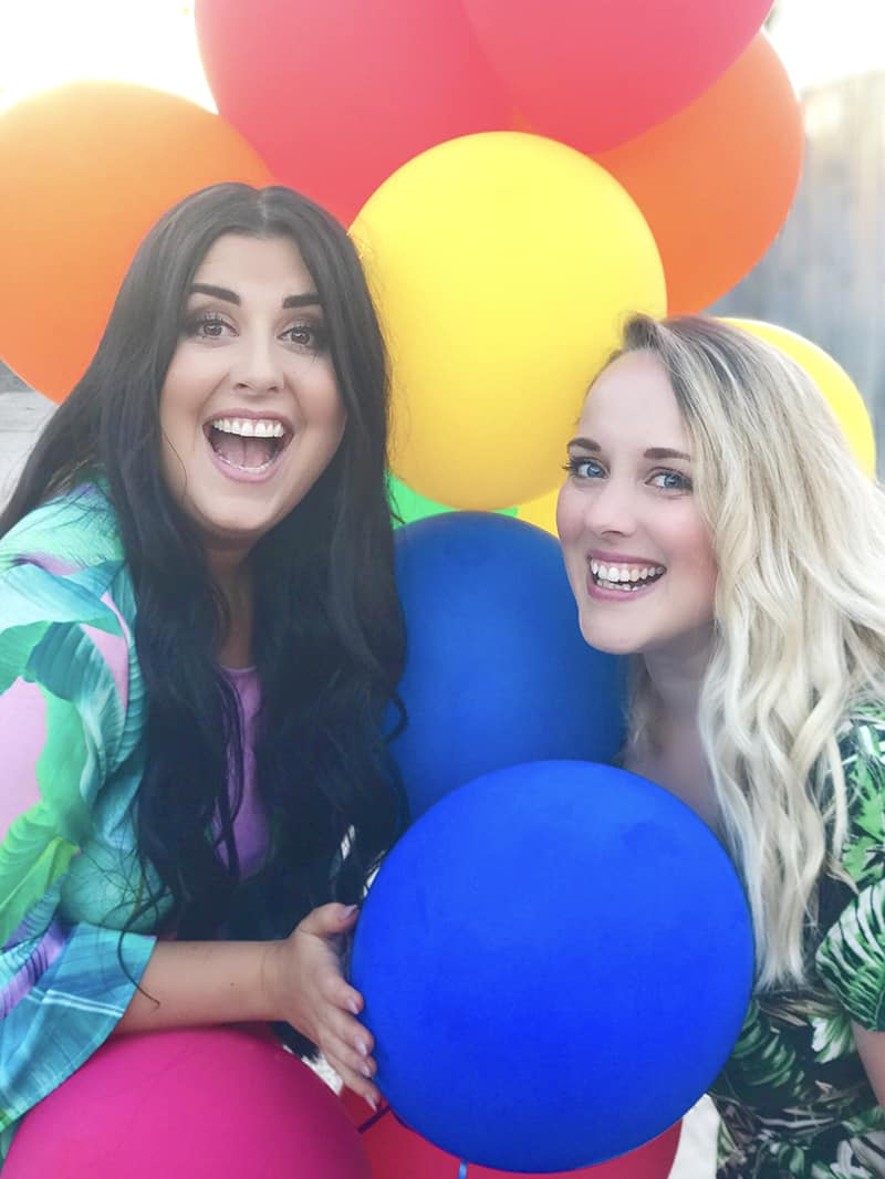 Bespoke Bride Jessica Turley Emily Pettiford Colourful Balloons