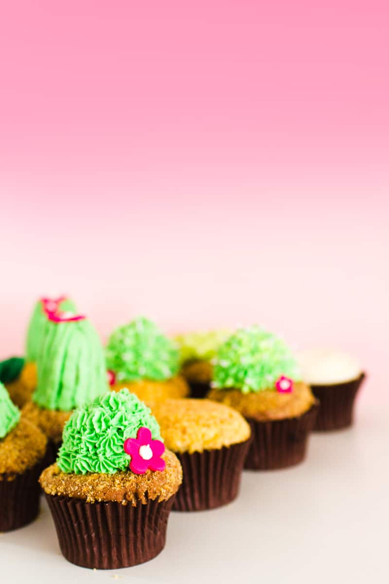 DIY Succulent Cactus Cupcakes Tutorial Cacti Fun Unique Terrarium Two Little Cats Bakery Greenery Green Spring Themed-18