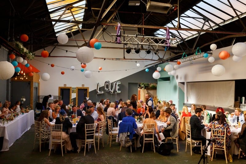 SAME-SEX COLOURFUL SPRING WAREHOUSE WEDDING (12)