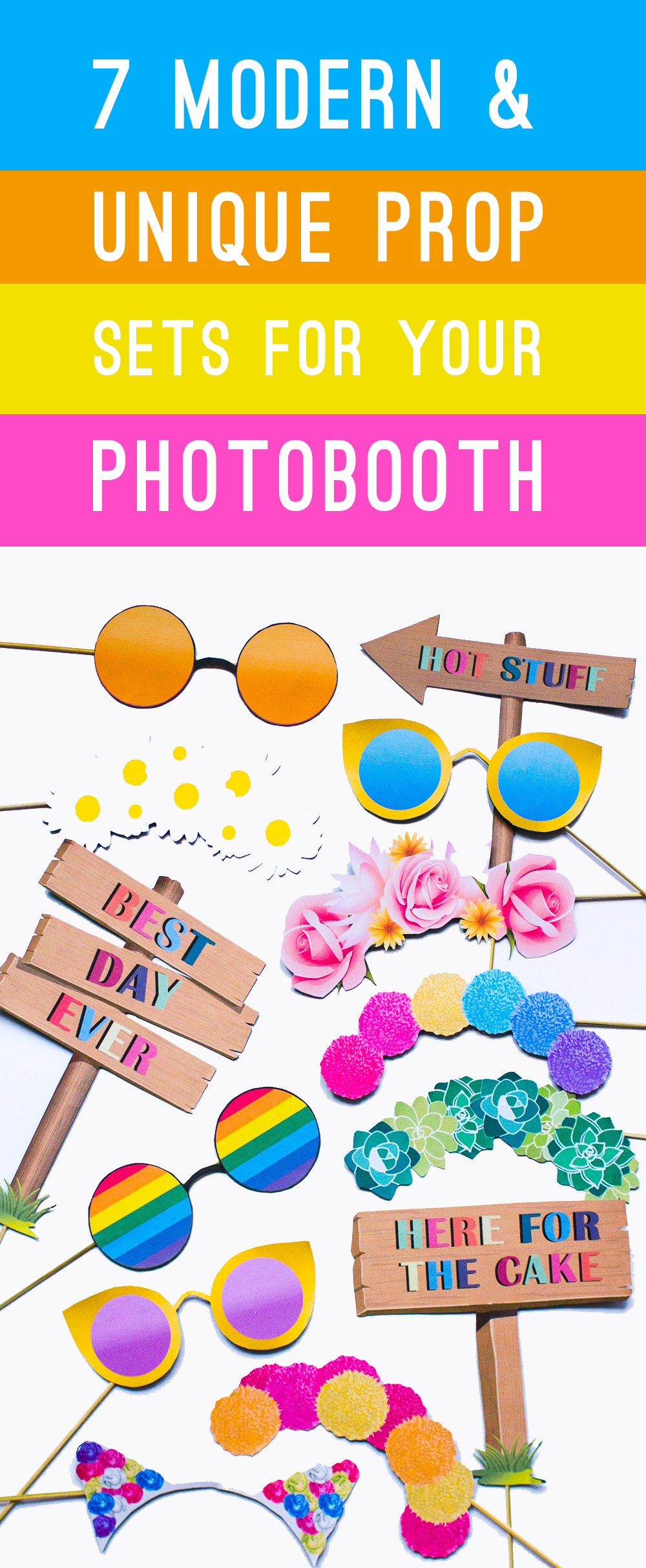 7 MODERN & UNIQUE PROP SETS TO MAKE YOUR PHOTO BOOTH THE COOLEST