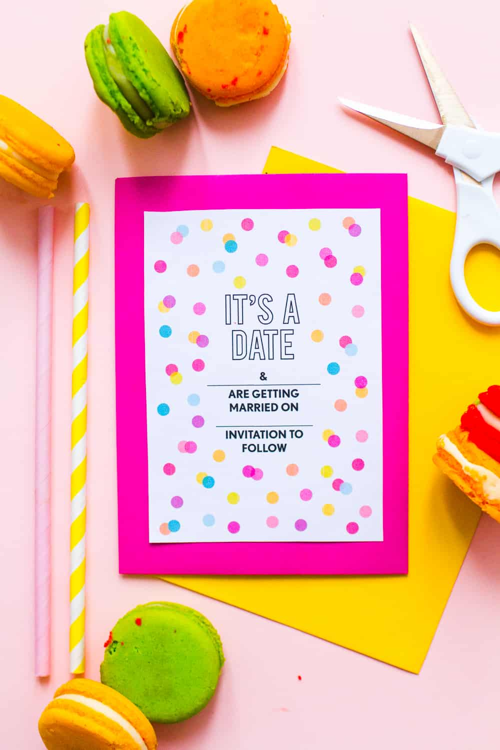 free printable confetti save the dates download fun colourful
