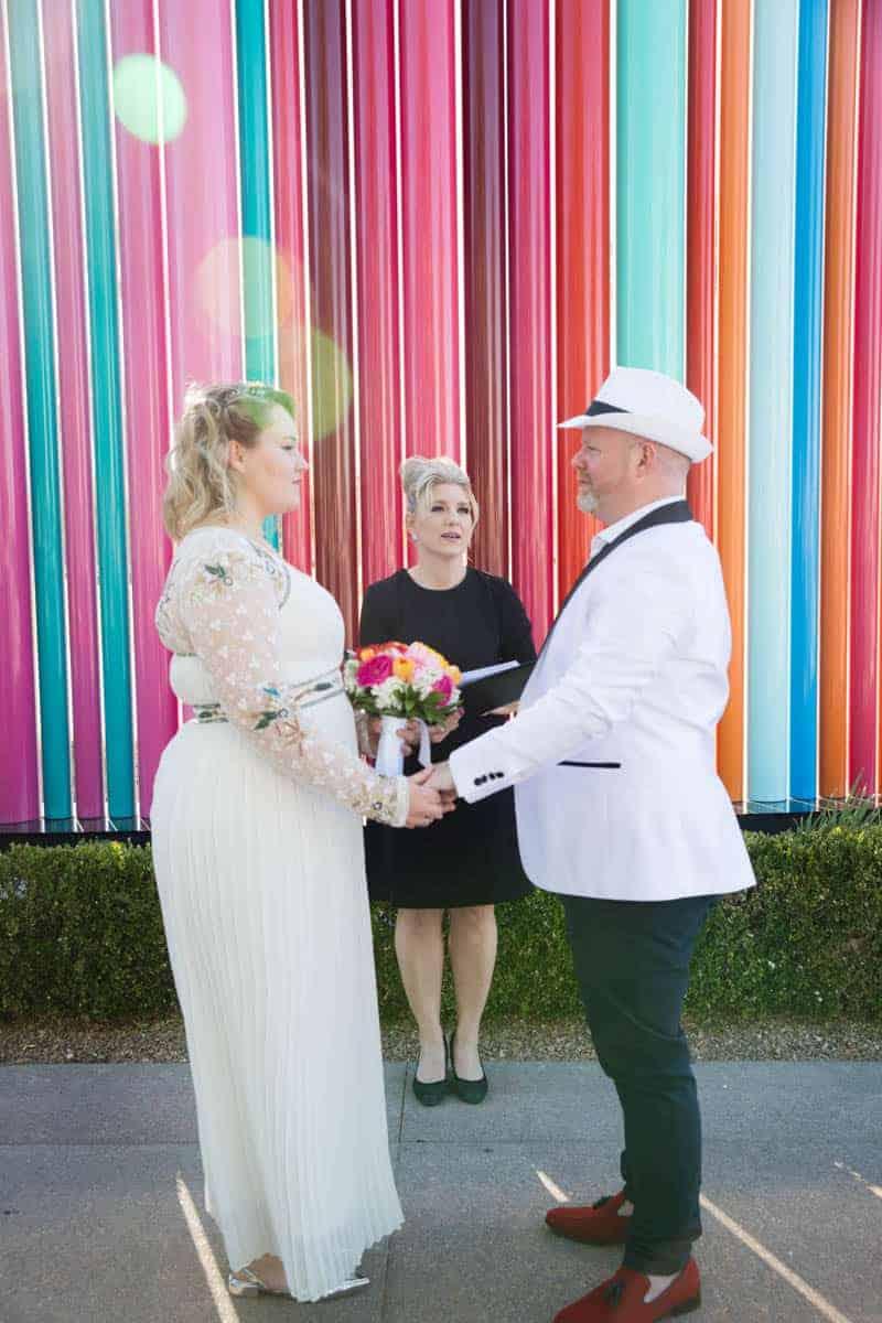 COLOURFUL DESTINATION LAS VEGAS WEDDING