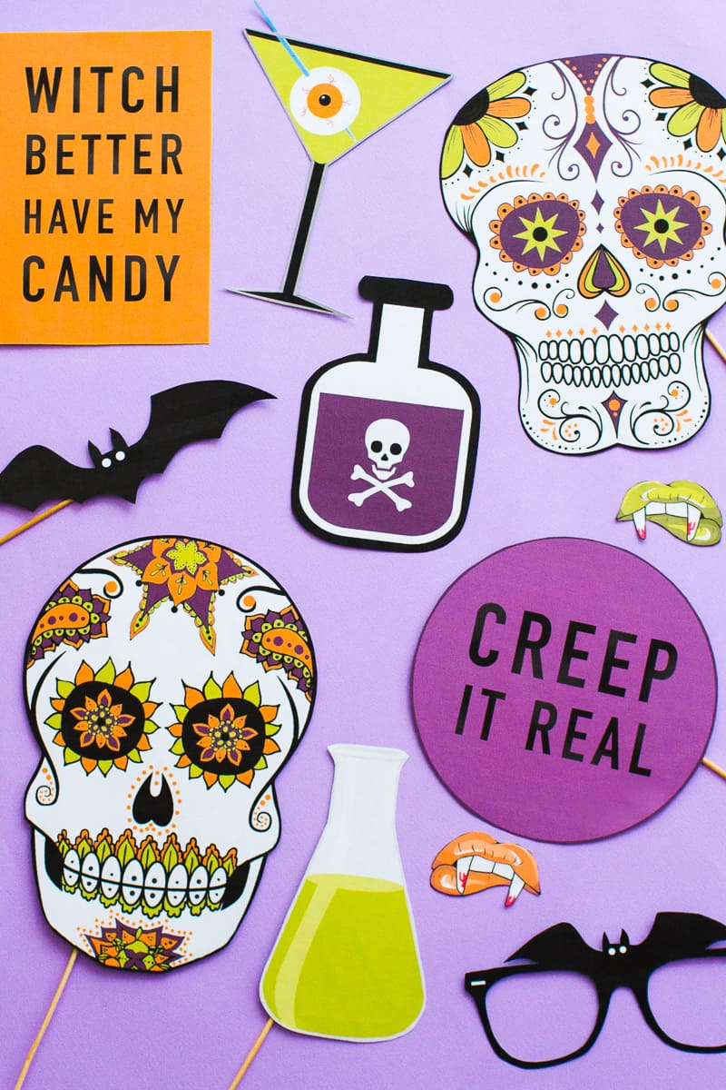 picture regarding Halloween Photo Booth Props Printable referred to as PRINTABLE HALLOWEEN PROPS FOR YOUR Picture BOOTH! Bespoke