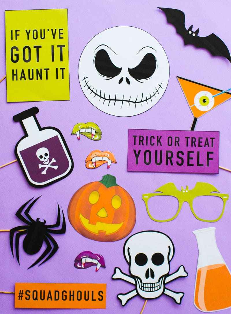 photo about Halloween Photo Booth Props Printable named PRINTABLE HALLOWEEN PROPS FOR YOUR Photograph BOOTH! Bespoke