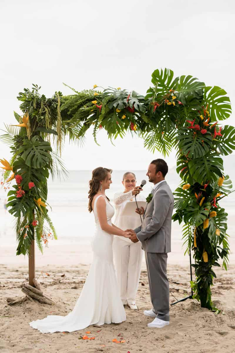 Tropical beachfront wedding in costa rica bespoke bride for Weddings in costa rica