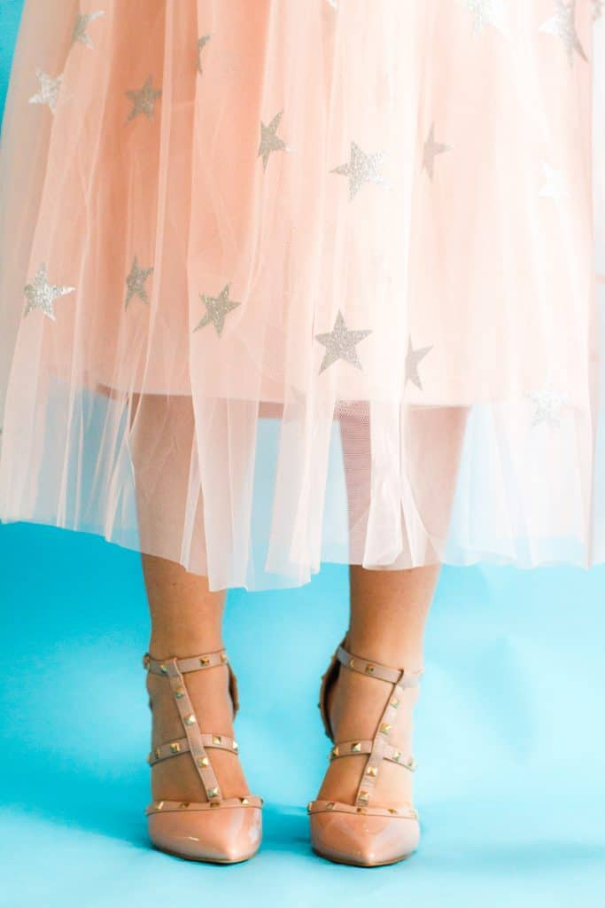 Diy Sparkly Star Tulle Skirt Perfect For Christmas