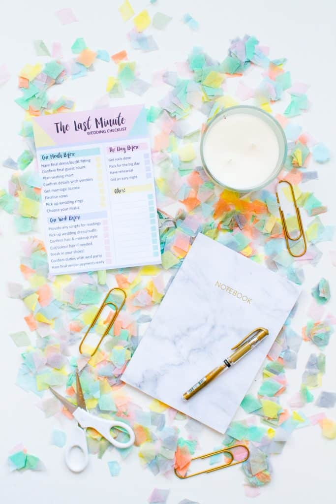 GRAB THIS FREE PRINTABLE LAST MINUTE WEDDING CHECKLIST ...