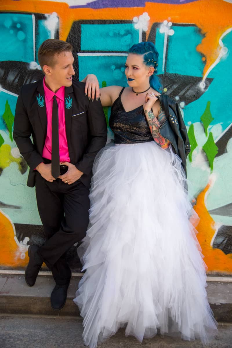 Colorful Punk Inspired Wedding Ideas Bespoke Bride Wedding Blog