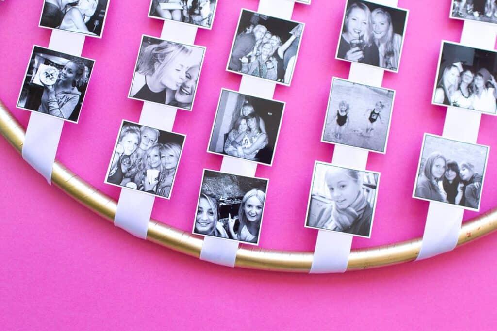 Diy Hoola Hoop Photo Display Bespoke Bride Wedding Blog