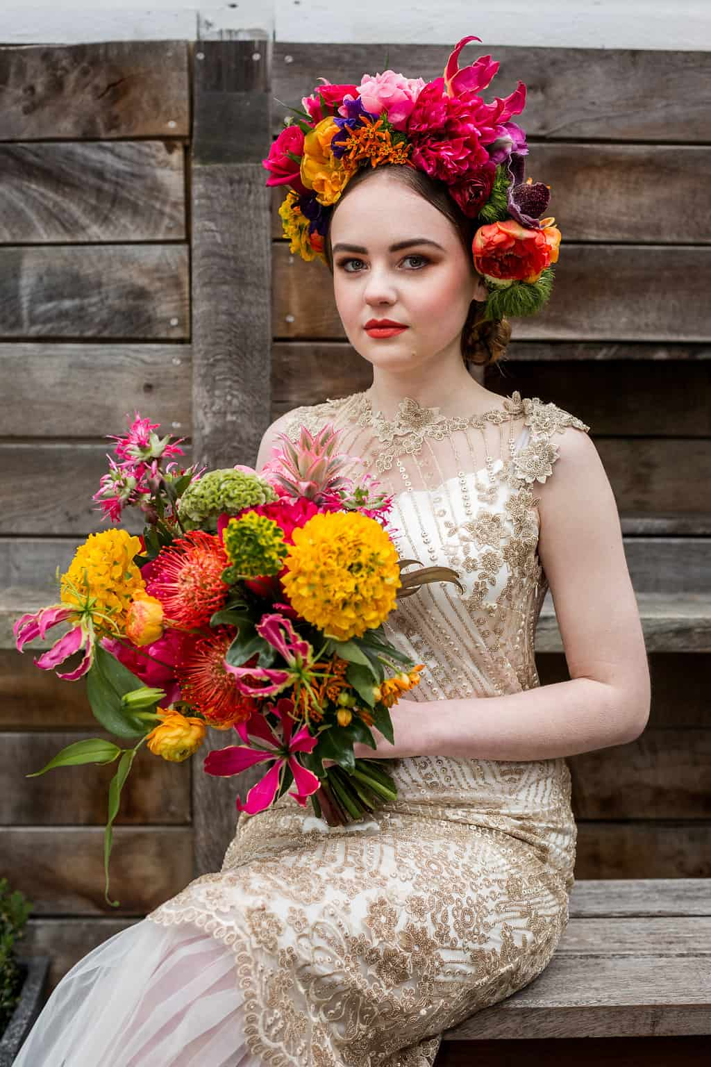 authentic mexican wedding inspiration with bright bold