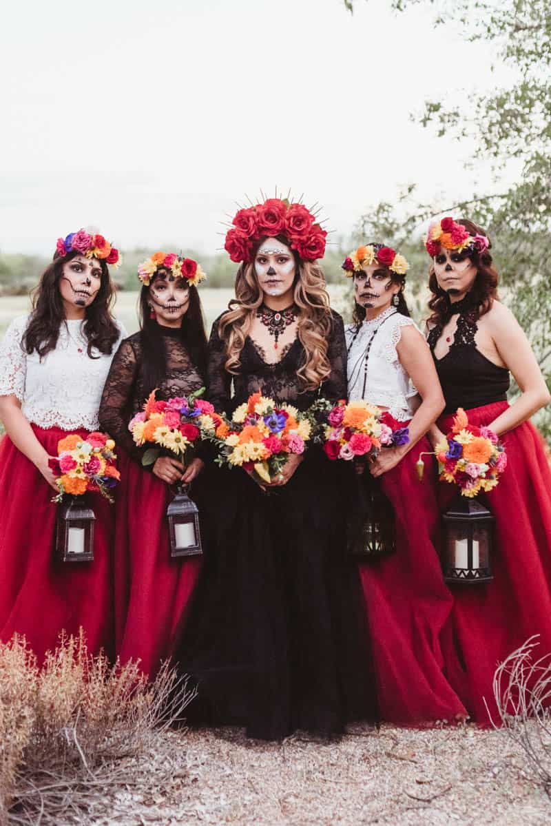 spooktacular day of the dead wedding inspiration | bespoke