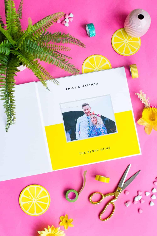 The Story Of Us Snapfish Photo Book Bespoke Bride Wedding Blog