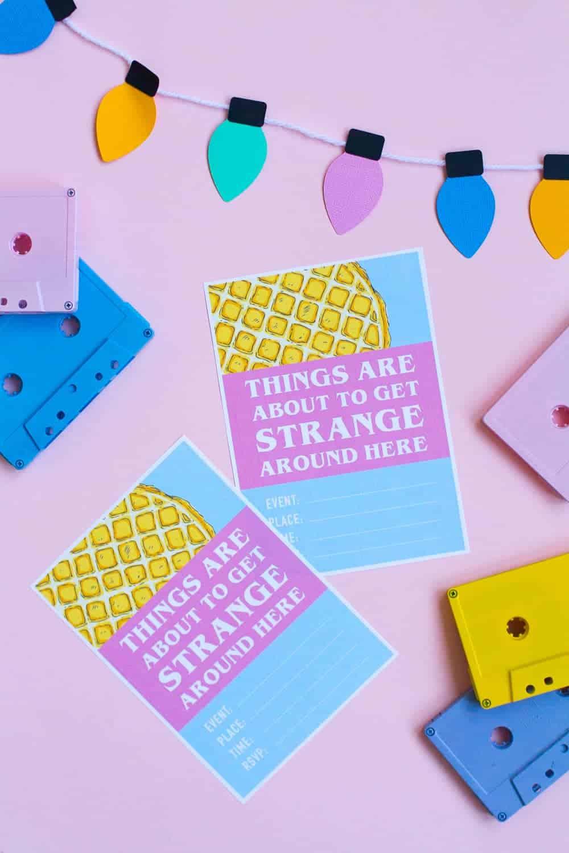 How To Throw A Mini Stranger Things Party Free Printable