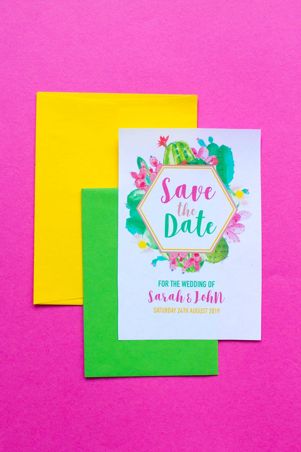 photograph about Free Printable Save the Date known as Absolutely free PRINTABLE CACTUS THEMED Help you save THE Day (ITS EDITABLE