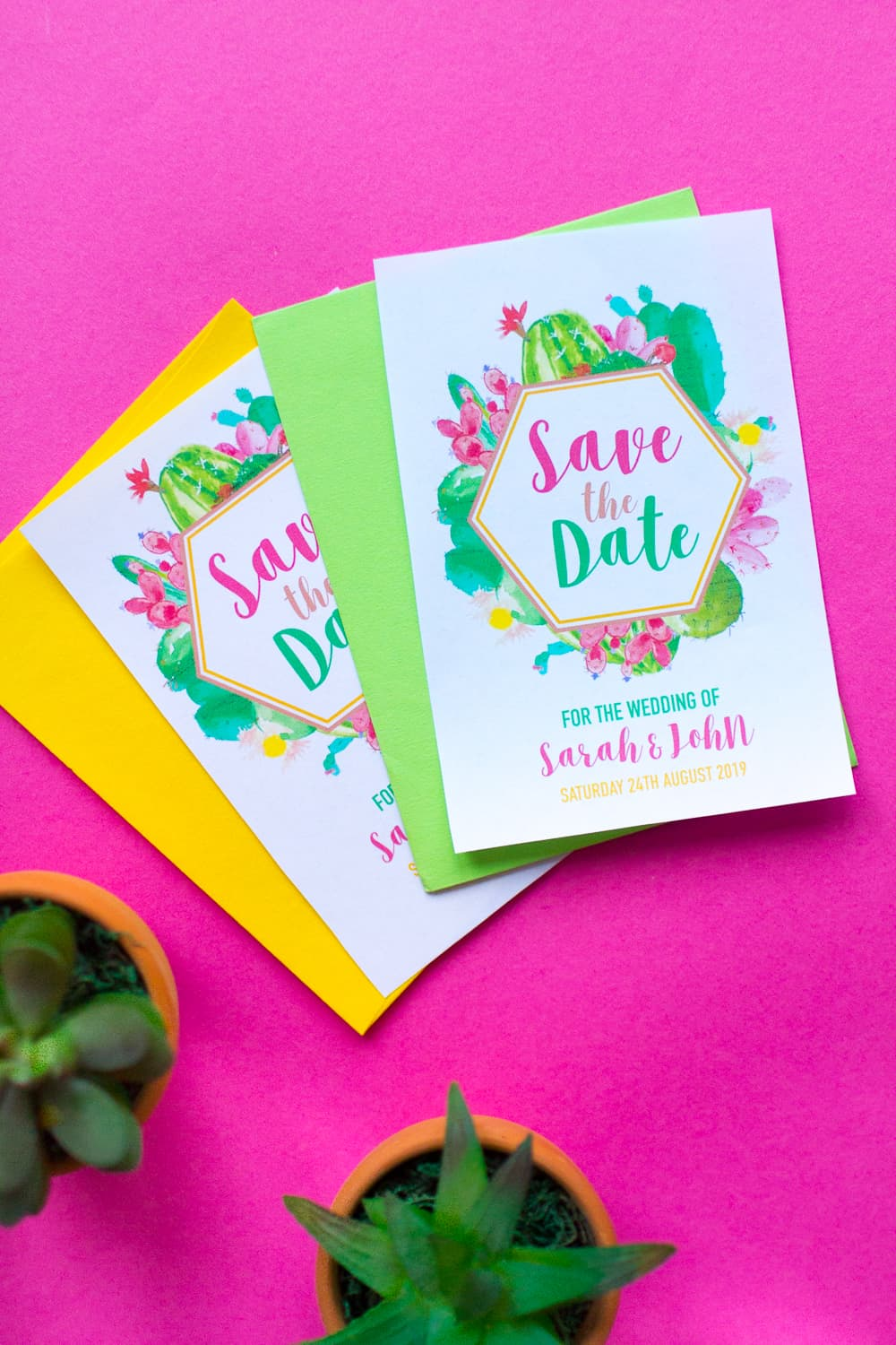 photo regarding Free Printable Save the Date referred to as Absolutely free PRINTABLE CACTUS THEMED Preserve THE Day (ITS EDITABLE