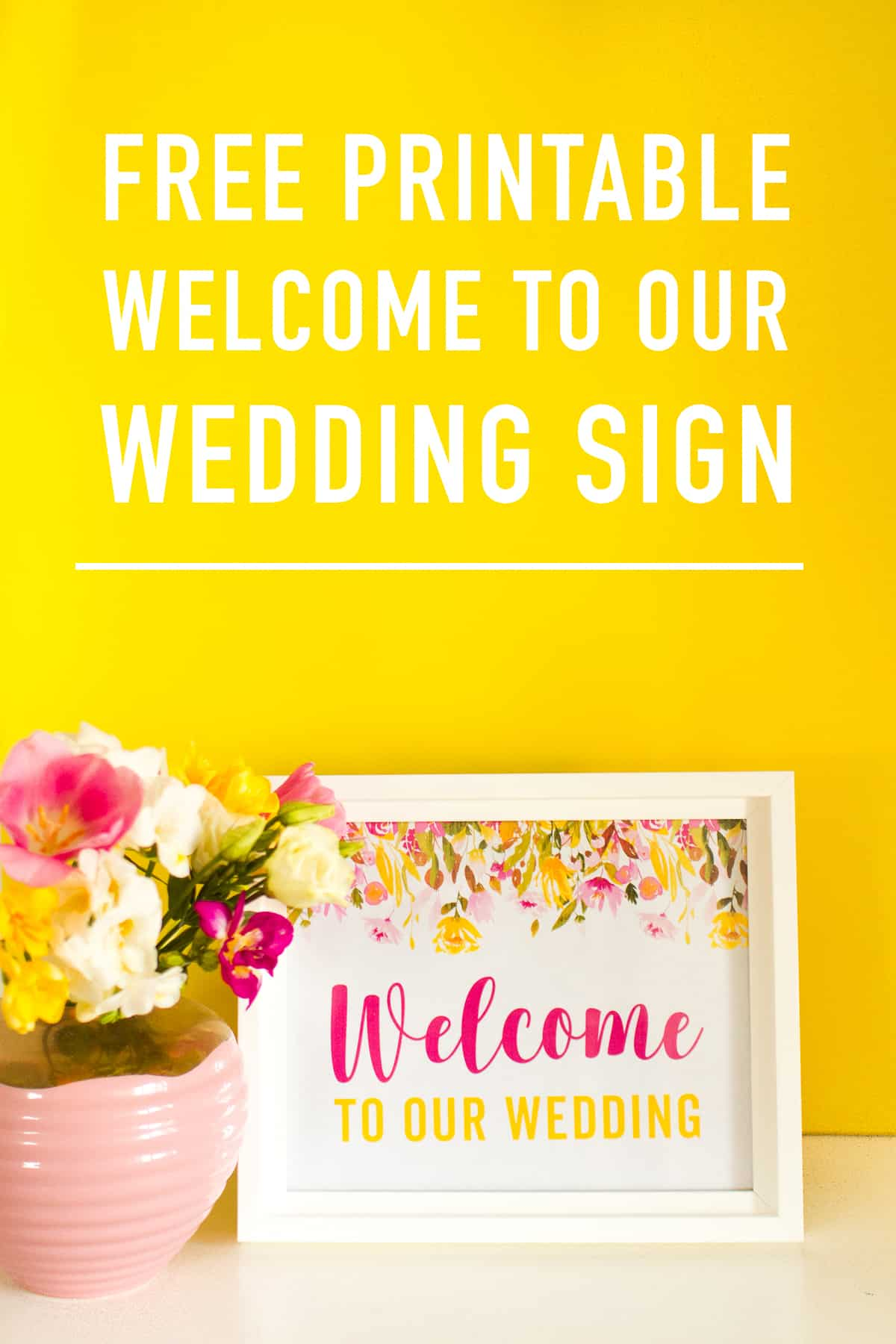 photo relating to Free Printable Welcome Sign named Absolutely free PRINTABLE WELCOME In direction of OUR Marriage ceremony Indication SPRING FLORAL