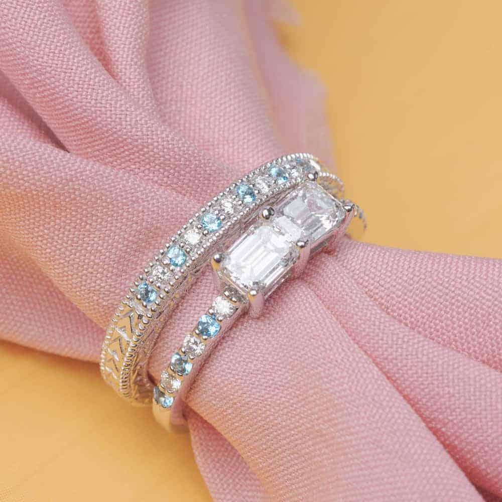 12 MULTI STONE ENGAGEMENT RINGS   Bespoke-Bride: Wedding Blog - photo#12