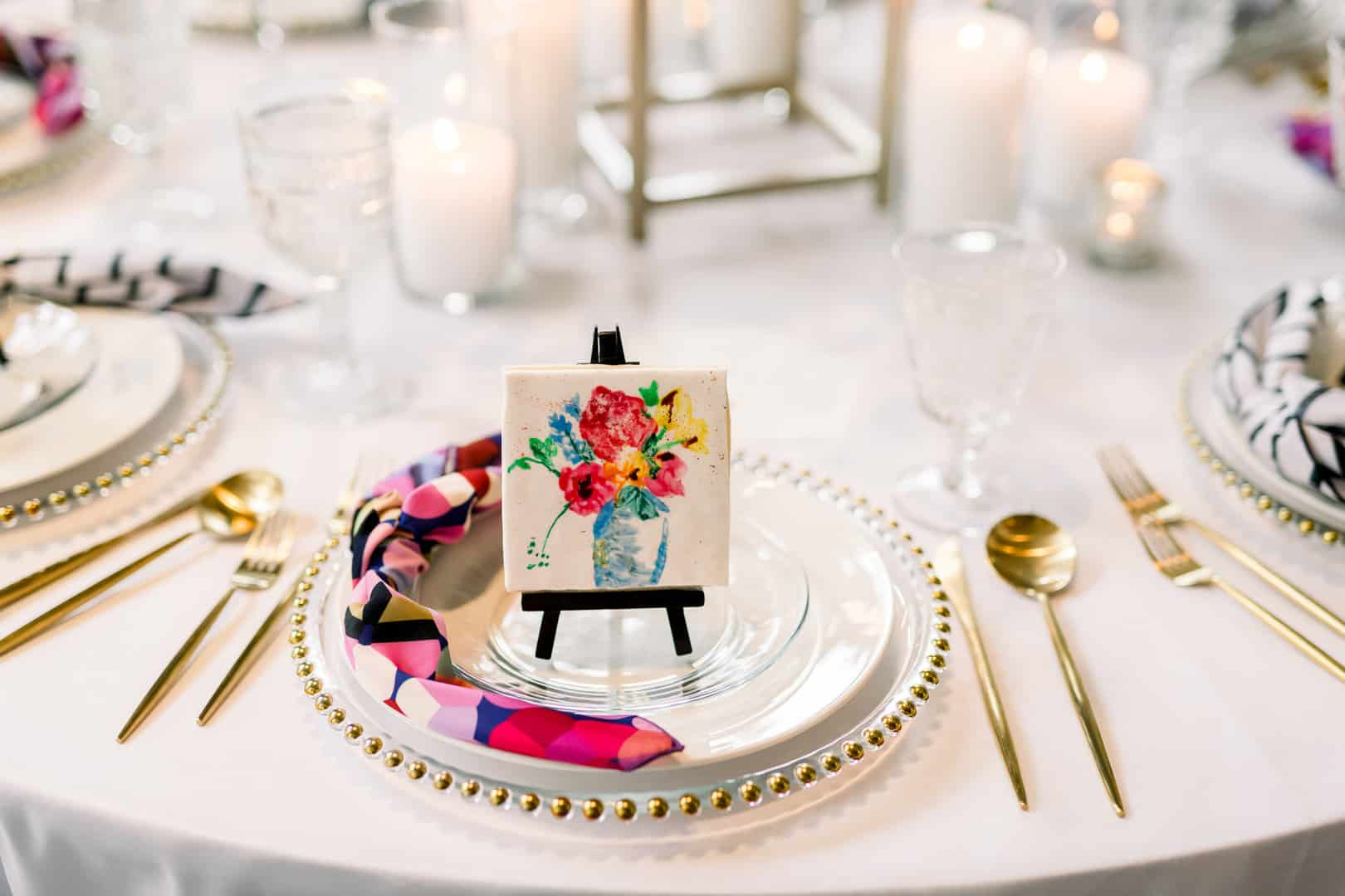 watercolor floral wedding portrait favor