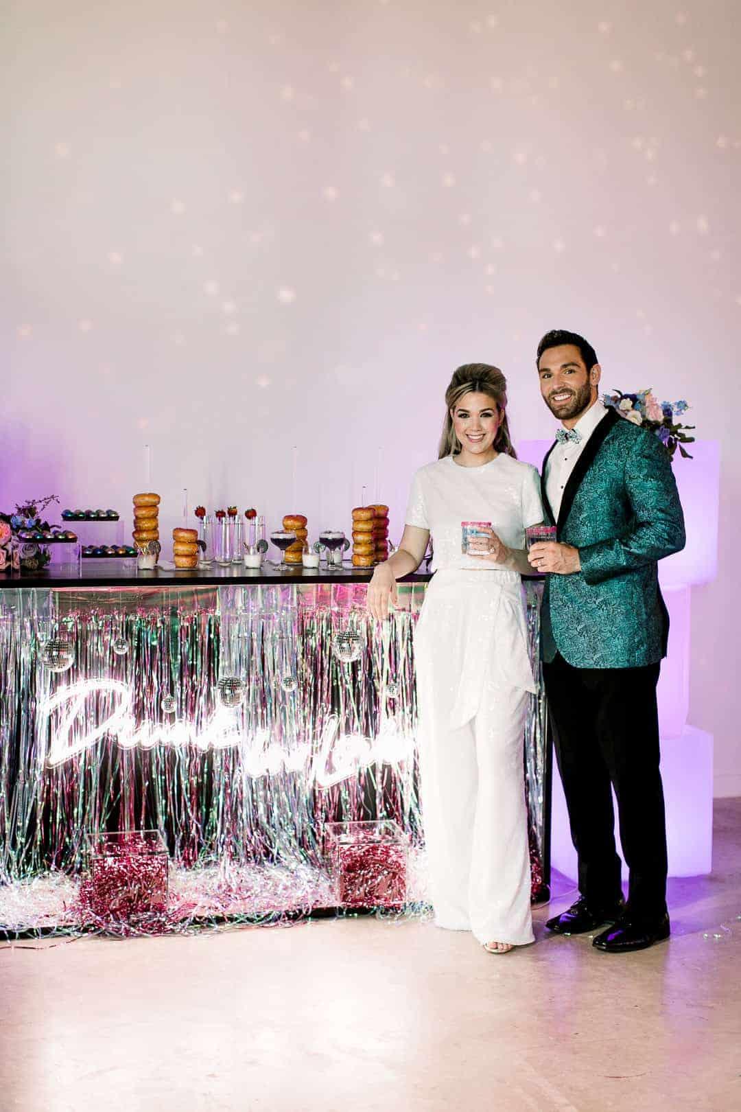 GROOVY GLAMOROUS WEDDING DONUT BAR