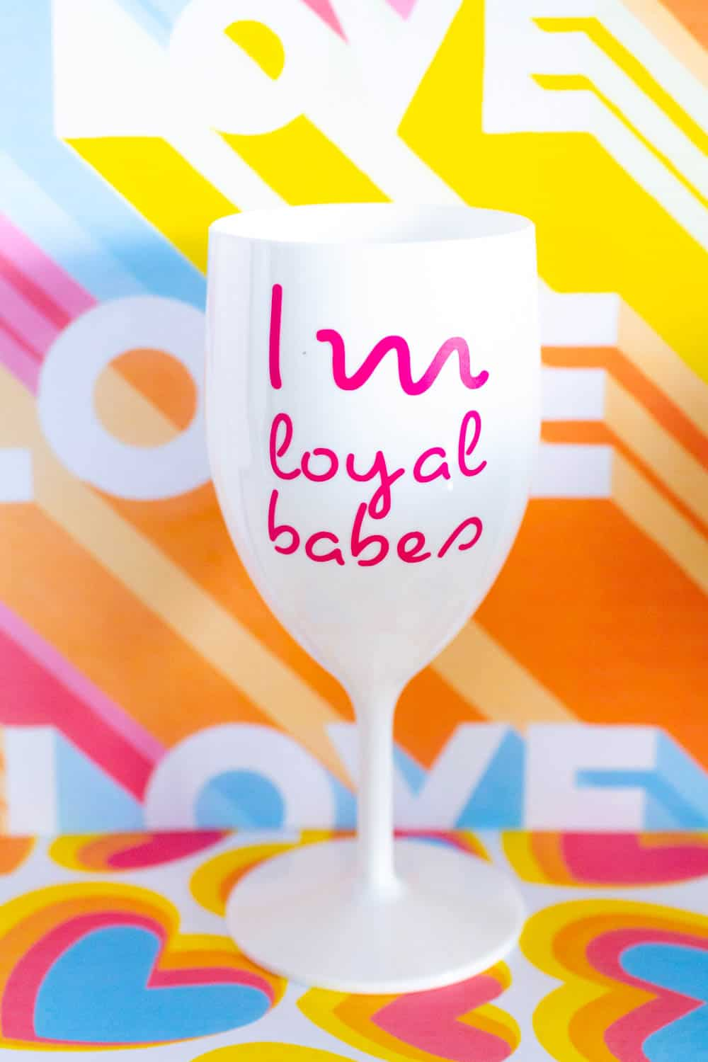 LOVE ISLAND STYLE NAME VINYL DECALS STICKER BOTTLE NOT INCLUDED