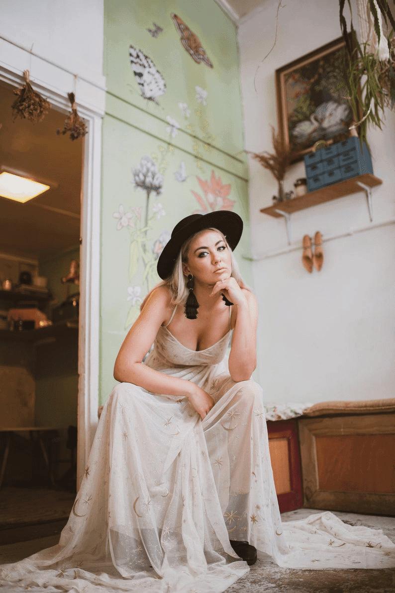 etsy-boho-wedding-dress-star-galaxy-unique-wedding-dress
