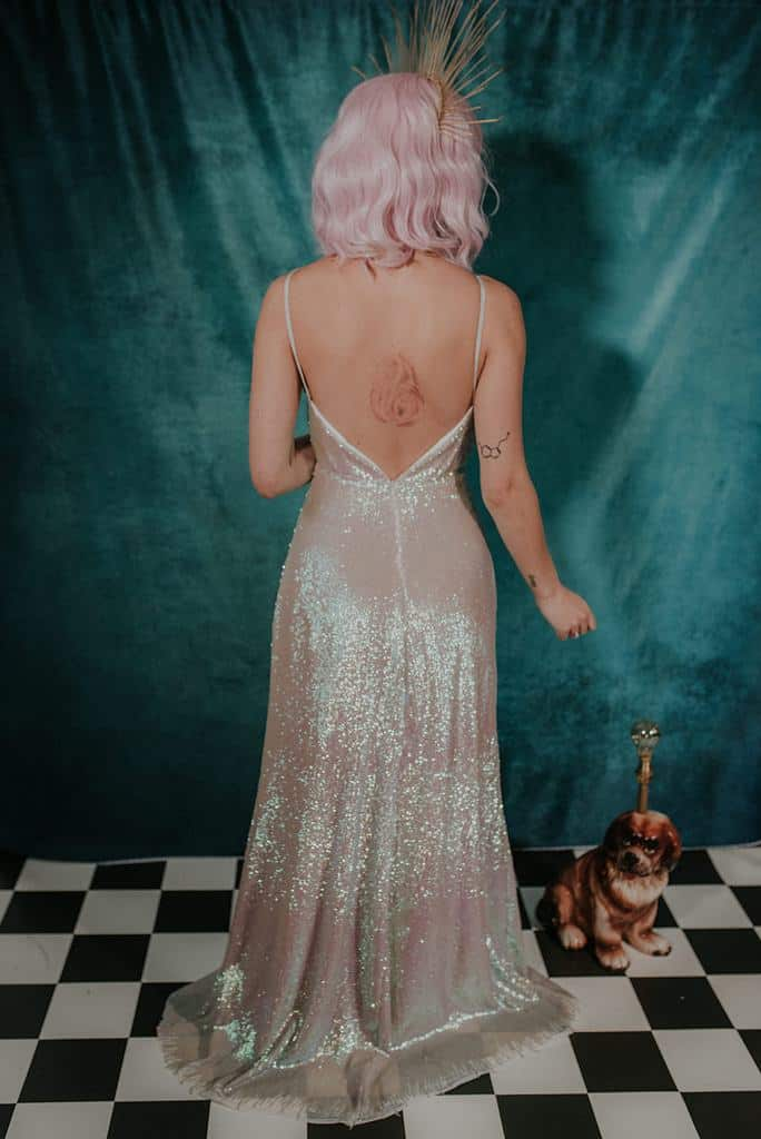 lucy-cant-dance-moonshine-sequin-galaxy-themed-wedding-dress-back