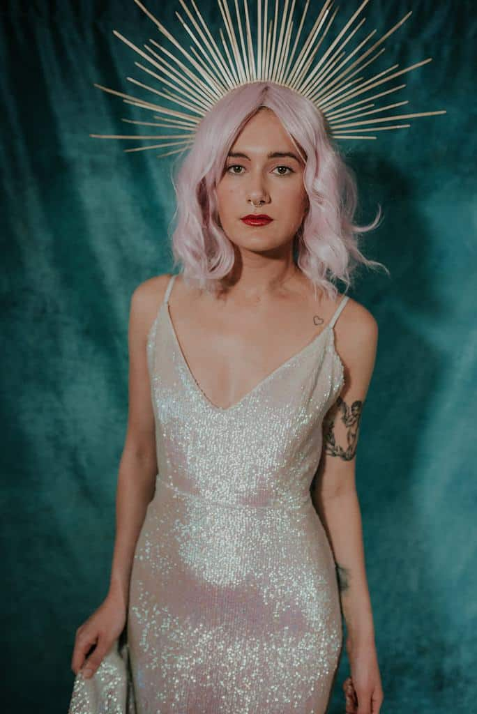 lucy-cant-dance-moonshine-sequin-galaxy-themed-wedding-dress-front