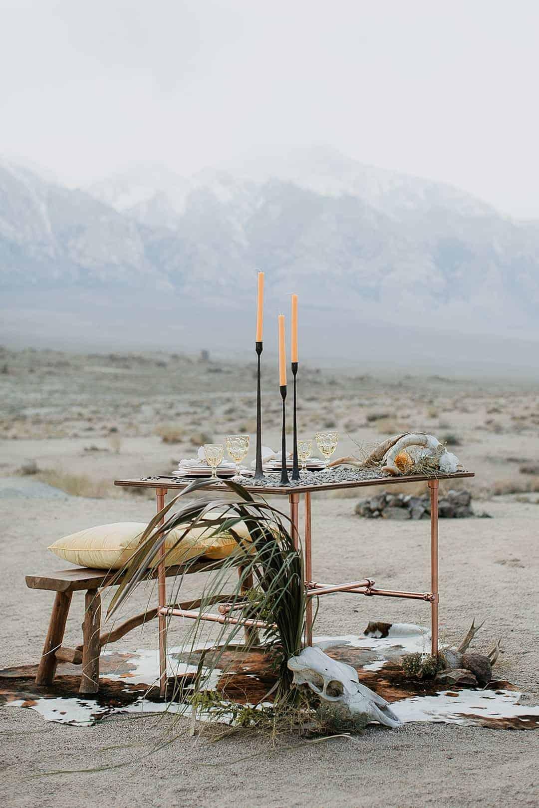 BOHO -CALIFORNIA DESERT WEDDING INSPIRATION -BOHO LACE DRESS- FRINGE JACKET