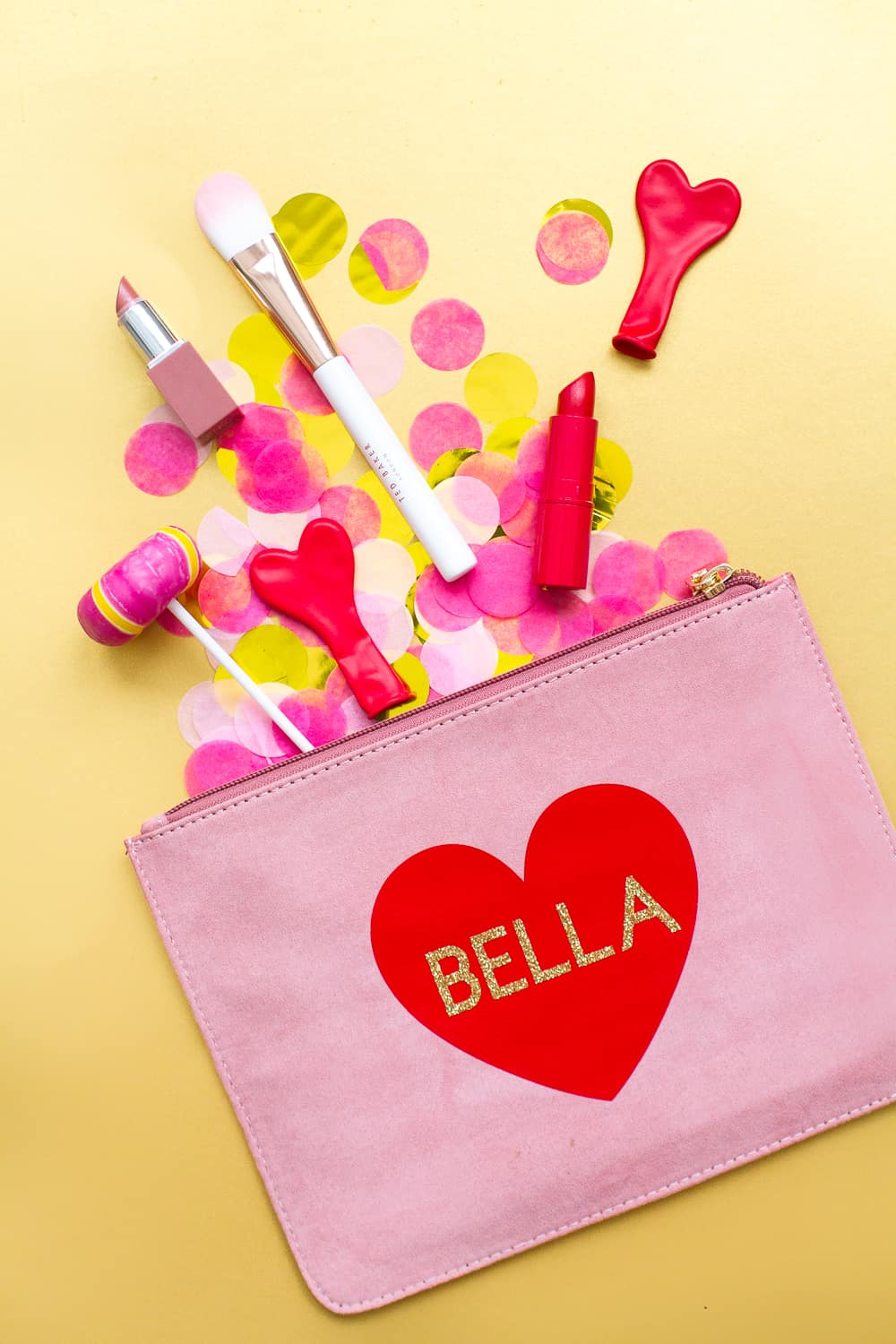 Cute Name Heart Clutch For your Bridesmaids Gifts
