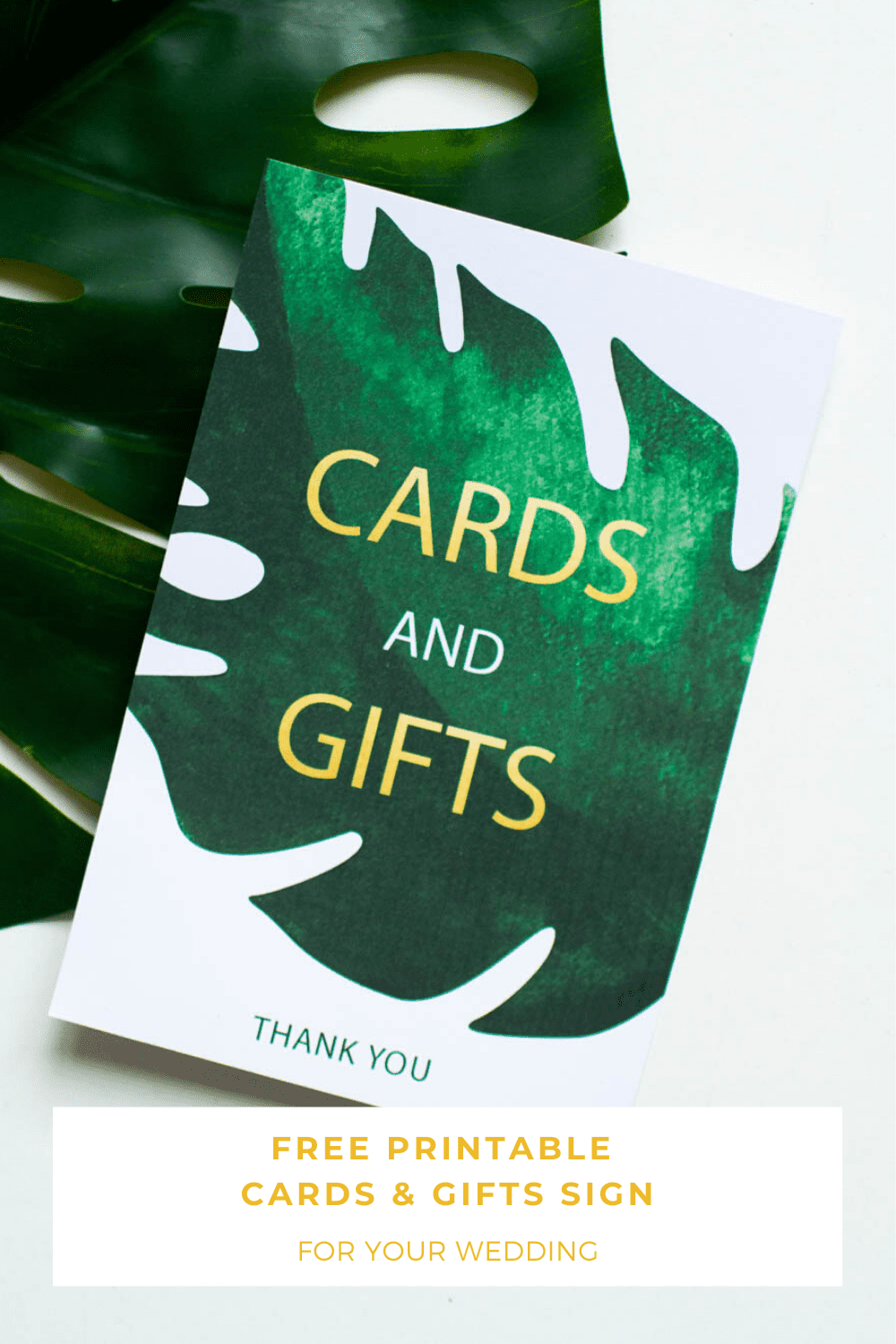 Free Printable Greenery Cards And Gifts Sign Bridalpulse