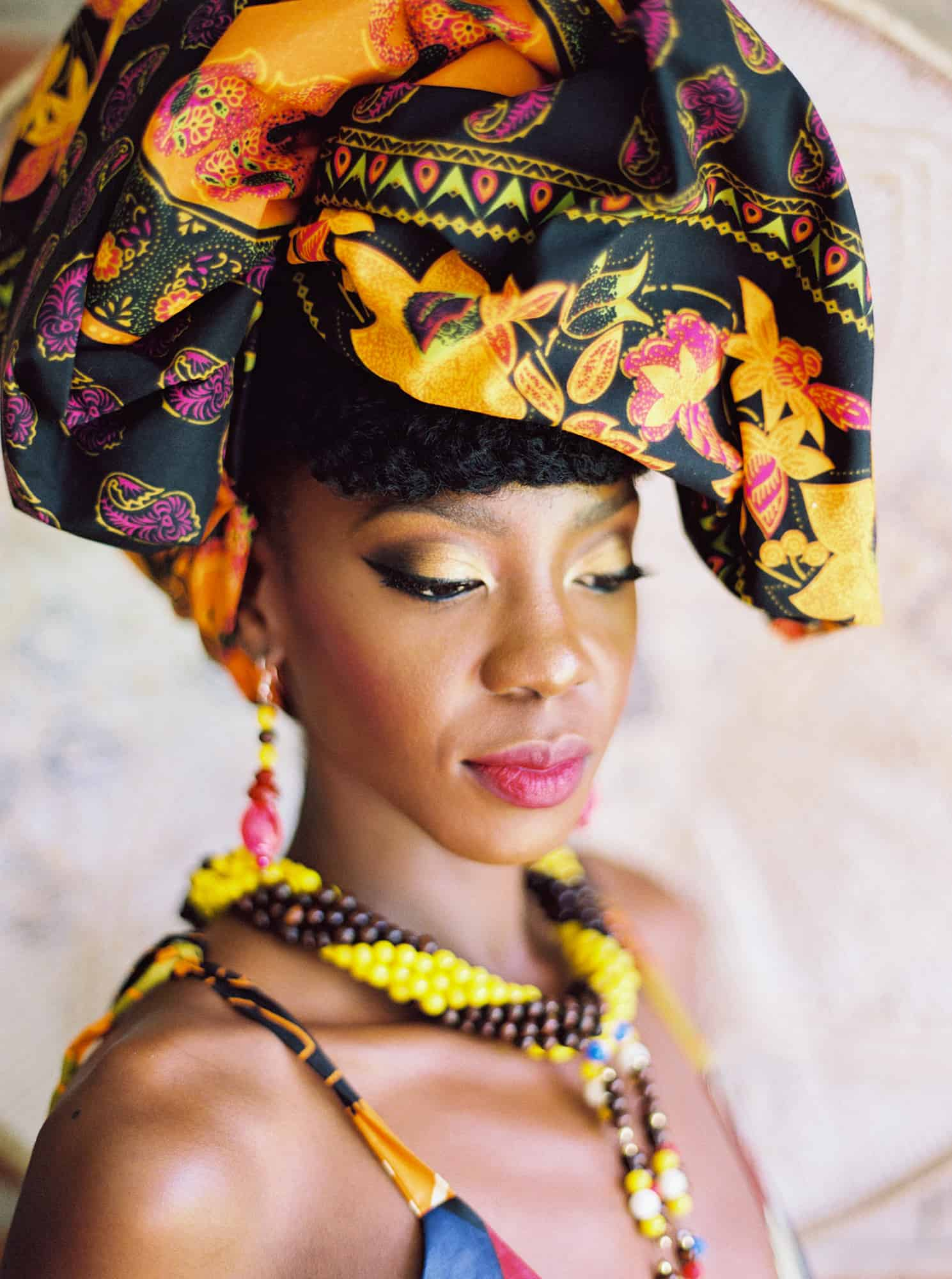 Be transported to the Zambian Plains in Africa and be inspired by these spirited and spell binding traditional African bridal fashion and wedding ideas