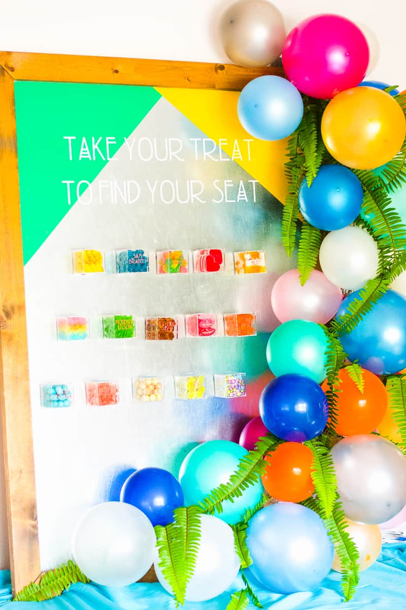 DIY-Magnet-Place-Card-Holder-wedding-Seating-Plan-Sugarfina-Colourful-Bright-Unique-Fun-Alterntive-Guest-plan-Sweets-Candy-cricut-tutorial