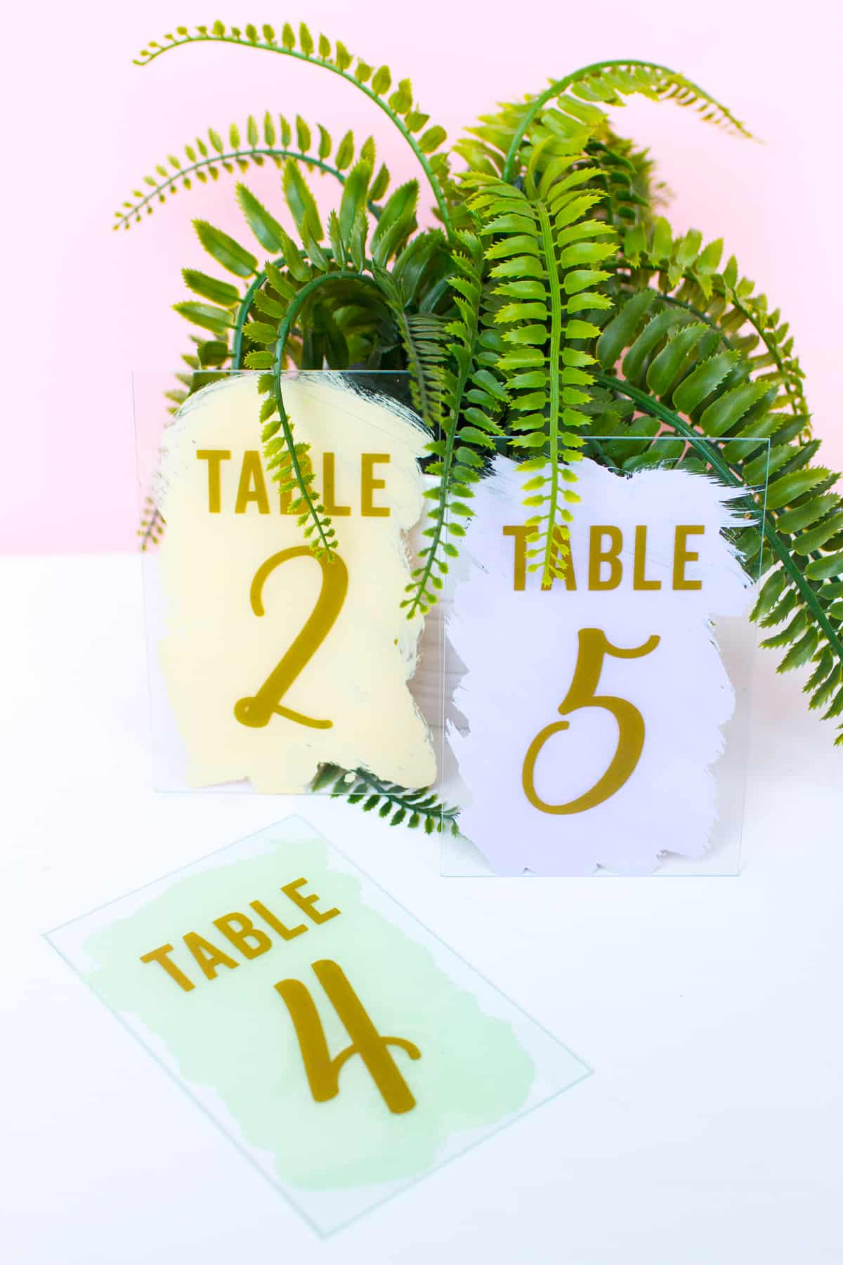 DIY-Modern-Painted-Pastel-Table-Numbers-Gold-Vinyl-Unique-Handmade-Easy-Cheap-wedding-cricut-tutorial