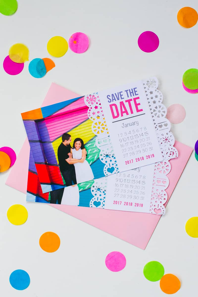 Mexican-Save-The-Date-Cricut-Die-Cut-Colourful-Fun-Invitation-Wedding-Stationery