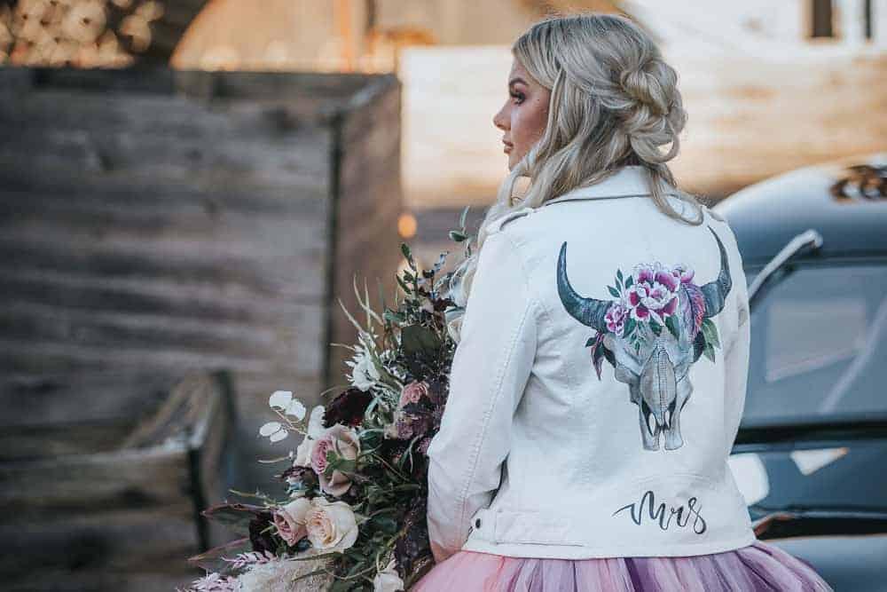 ROMANTIC MOODY ROCK AND ROLL WEDDING INSPIRATION DIY BARN WEDDING VENUE IN NOTTINGHAMSHIRE BURGUNDY COLOUR THEME UNIQUE HOT ROD WEDDING CAR